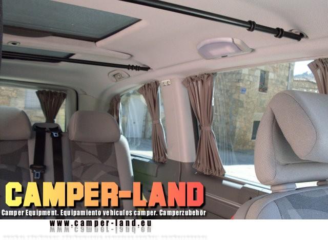 Foro4x4 cortinas con rieles para furgonetas y vehiculos for Ganchos para rieles